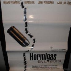 Cine: CARTEL DE CINE ORIGINAL DE LA PELÍCULA HORMIGAS EN LA BOCA, 70 POR 100CM. Lote 41660734