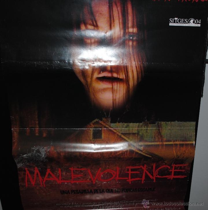 CARTEL DE CINE ORIGINAL DE LA PELÍCULA MALEVOLENCE, 70 POR 100CM (Cine - Posters y Carteles - Terror)