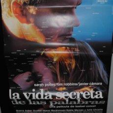 Cine: CARTEL DE CINE ORIGINAL DE LA PELÍCULA LA VIDA SECRETA DE LAS PALABRAS, ISABEL COIXET, 70 POR 100CM. Lote 41661762