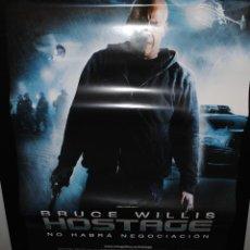 Cine: CARTEL DE CINE ORIGINAL DE LA PELÍCULA HOSTAGE, BRUCE WILLIS, 70 POR 100CM. Lote 41661978
