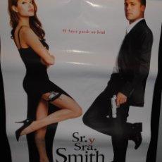 Cine: CARTEL DE CINE ORIGINAL DE LA PELÍCULA SR. Y SRA. SMITH, 70 POR 100CM. Lote 41671384