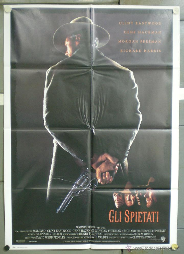 UJ15 SIN PERDON UNFORGIVEN CLINT EASTWOOD POSTER ORIGINAL ITALIANO 100X140 (Cine - Posters y Carteles - Westerns)