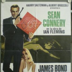 Cine: UJ22 JAMES BOND CONTRA GOLDFINGER 007 SEAN CONNERY POSTER ORIGINAL 70X100. Lote 41718693
