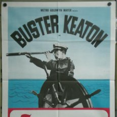 Cine: UJ85 EL COMPARSA BUSTER KEATON POSTER ORIGINAL 100X140 ITALIANO. Lote 41726963