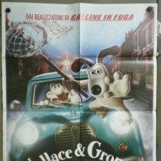 Cine: QM22 WALLACE Y GROMIT LA MALDICION DE LAS VERDURAS POSTER ORIGINAL ITALIANO 100X140. Lote 41731955