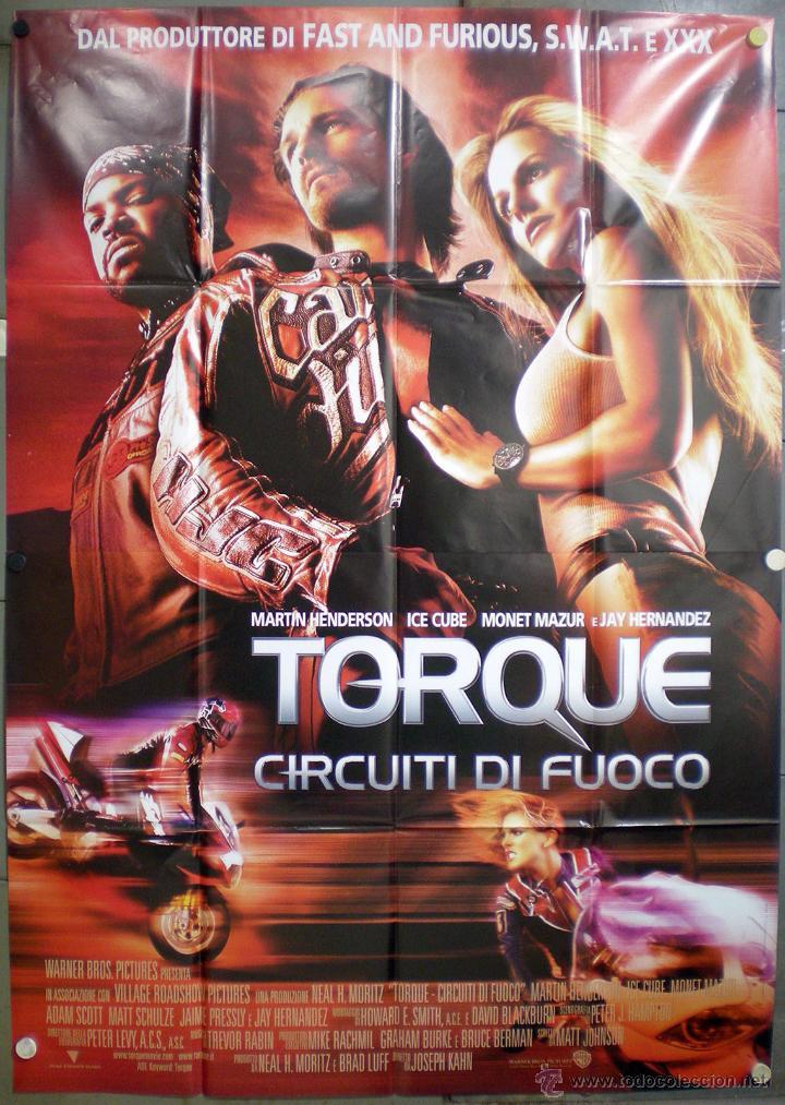 UJ26 TORQUE RODANDO AL LIMITE MOTOCICLISMO POSTER ORIGINAL ITALIANO 140X200 (Cine - Posters y Carteles - Deportes)