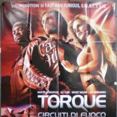 Cine: UJ26 TORQUE RODANDO AL LIMITE MOTOCICLISMO POSTER ORIGINAL ITALIANO 140X200. Lote 41736760