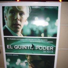 Cine: EL QUINTO PODER DANIEL BRÜHL POSTER ORIGINAL 70X100. Lote 41800703