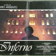 Cine: UK16 INFERNO DARIO ARGENTO ELEONORA GIORGI SET DE 4 POSTERS ORIGINAL ITALIANO 47X68. Lote 41815226