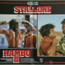 Cine: UK32 RAMBO 3 SYLVESTER STALLONE SET 6 POSTERS ORIGINAL ITALIANO 47X68. Lote 41819754