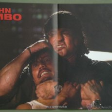 Cine: UK34 JOHN RAMBO / RAMBO 4 SYLVESTER STALLONE SET 4 POSTERS ORIGINAL ITALIANO 47X68. Lote 41819770
