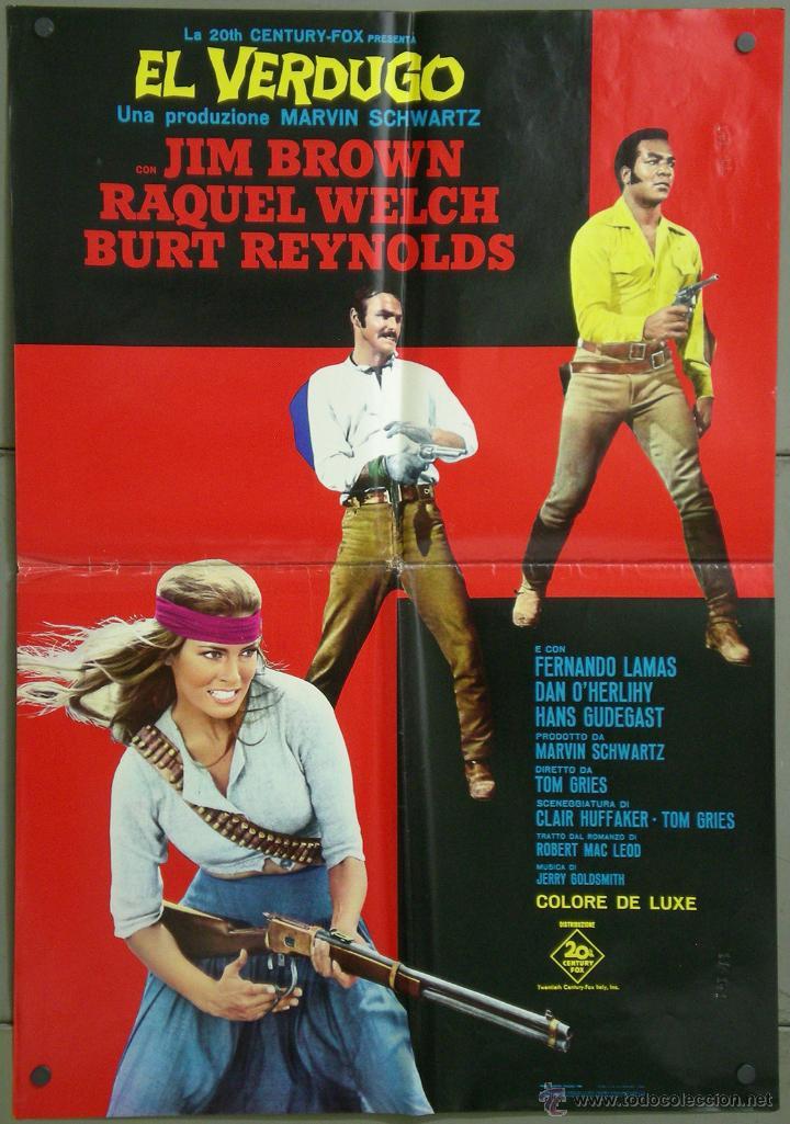 UK25 100 RIFLES RAQUEL WELCH SEXY BURT REYNOLDS POSTER ORIGINAL 68X94 ITALIANO (Cine - Posters y Carteles - Westerns)