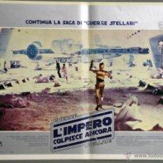 Cine: UK61 EL IMPERIO CONTRAATACA STAR WARS GUERRA DE LAS GALAXIAS POSTER ORIGINAL ITALIANO 47X68. Lote 41925956