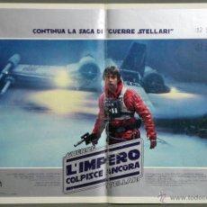 Cine: ZS73D EL IMPERIO CONTRAATACA STAR WARS GUERRA DE LAS GALAXIAS POSTER ORIGINAL ITALIANO 47X68. Lote 41925958
