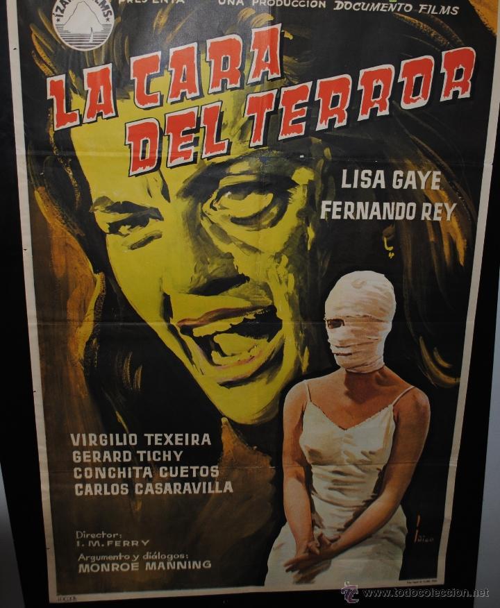 CARTEL DE CINE ORIGINAL DE LA PELÍCULA LA CARA DEL TERROR, 70 POR 100CM (Cine - Posters y Carteles - Terror)