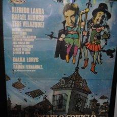 Cine: CARTEL DE CINE ORIGINAL DE LA PELÍCULA EL DIABLO COJUELO, 70 POR 100CM. Lote 42009188