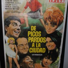 Cine: CARTEL DE CINE ORIGINAL DE LA PELÍCULA DE PICOS PARDOS A LA CIUDAD, 70 POR 100CM. Lote 42054840