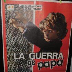 Cine: CARTEL DE CINE ORIGINAL DE LA PELÍCULA LA GUERRA DE PAPÁ, 70 POR 100CM. Lote 42057910