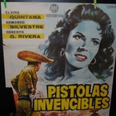 Cine: CARTEL DE CINE ORIGINAL DE LA PELÍCULA PISTOLAS INVENCIBLES, 70 POR 100CM. Lote 42065603