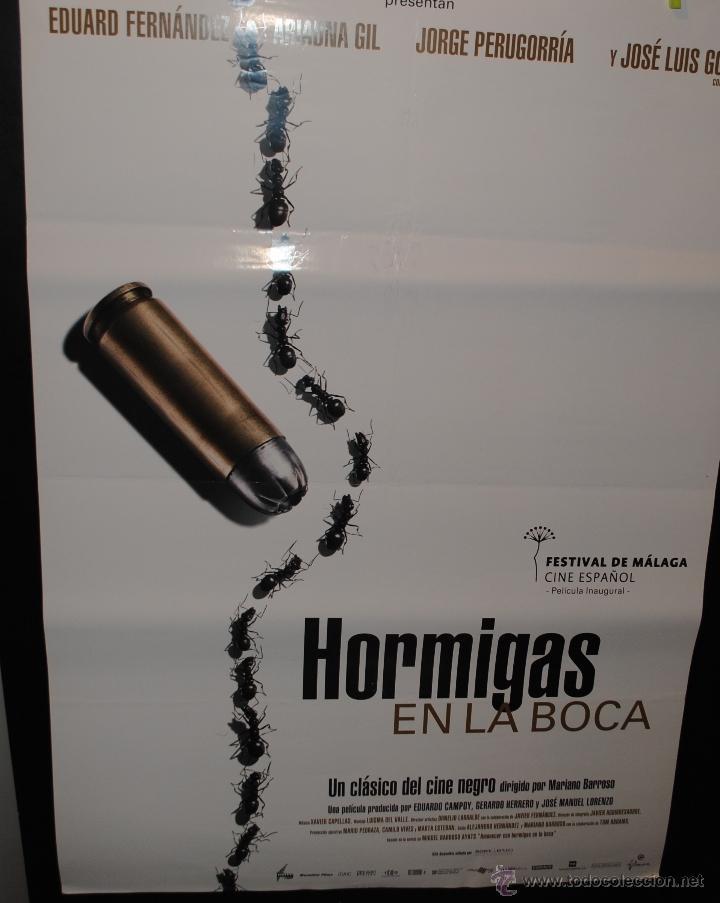 CARTEL DE CINE ORIGINAL DE LA PELÍCULA HORMIGAS EN LA BOCA, 70 POR 100CM (Cine - Posters y Carteles - Suspense)