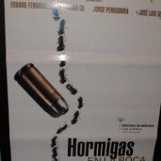 Cine: CARTEL DE CINE ORIGINAL DE LA PELÍCULA HORMIGAS EN LA BOCA, 70 POR 100CM. Lote 42066290