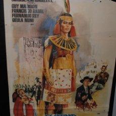 Cine: CARTEL DE CINE ORIGINAL DE LA PELÍCULA EL ÚLTIMO REY DE LOS INCAS, 70 POR 100CM. Lote 42066892