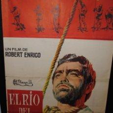 Cine: CARTEL DE CINE ORIGINAL DE LA PELÍCULA EL RÍO DEL BUHO, 70 POR 100CM. Lote 42087134
