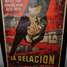 Cine: CARTEL DE CINE ORIGINAL DE LA PELÍCULA LA DELACIÓN, 70 POR 100CM. Lote 42088040