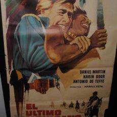 Cine: CARTEL DE CINE ORIGINAL DE LA PELÍCULA EL ÚLTIMO MOHICANO, 1965, 70 POR 100CM. Lote 42096454