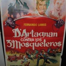 Cine: CARTEL DE CINE ORIGINAL DE LA PELÍCULA D´ARTAGNAN CONTRA LOS TRES MOSQUETEROS, 70 POR 100CM. Lote 42097547