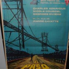 Cine: CARTEL DE CINE ORIGINAL DE LA PELÍCULA EL PASO DEL RHIN, 70 POR 100CM. Lote 42097770