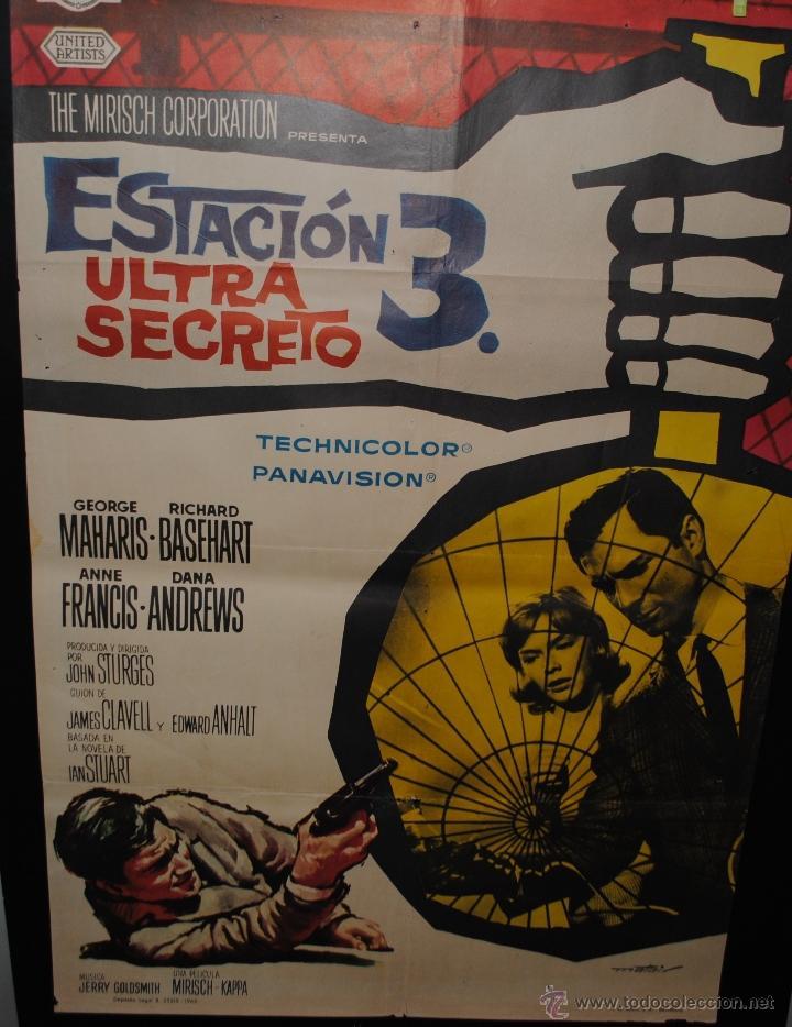 CARTEL DE CINE ORIGINAL DE LA PELÍCULA ESTACIÓN 3 ULTRA SECRETO, 70 POR 100CM (Cine - Posters y Carteles - Terror)