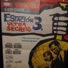 Cine: CARTEL DE CINE ORIGINAL DE LA PELÍCULA ESTACIÓN 3 ULTRA SECRETO, 70 POR 100CM. Lote 42098412