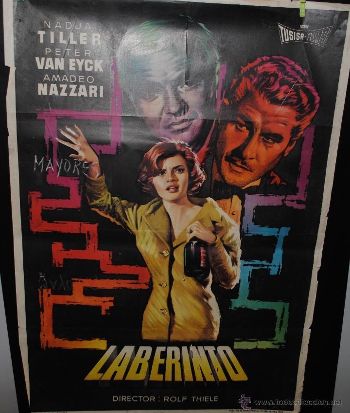 CARTEL DE CINE ORIGINAL DE LA PELÍCULA LABERINTO, 1962, 70 POR 100CM (Cine - Posters y Carteles - Terror)