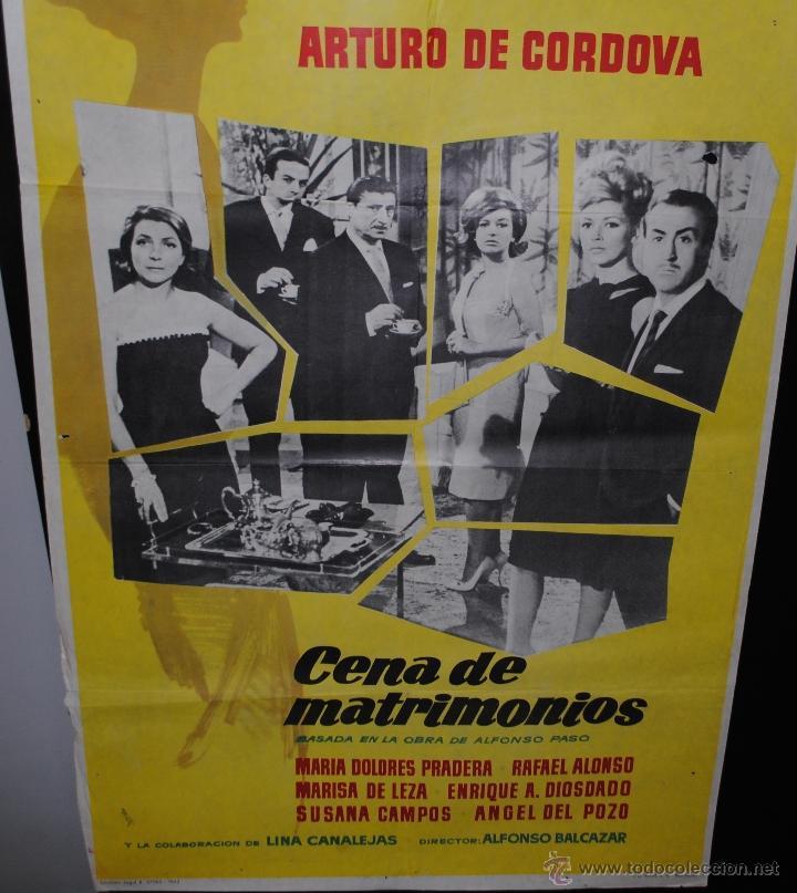 CARTEL DE CINE ORIGINAL DE LA PELÍCULA CENA DE MATRIMONIOS, 70 POR 100CM (Cine - Posters y Carteles - Clasico Español)