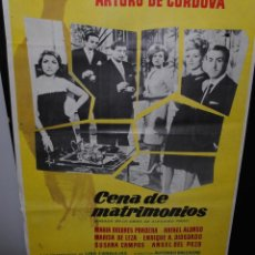 Cine: CARTEL DE CINE ORIGINAL DE LA PELÍCULA CENA DE MATRIMONIOS, 70 POR 100CM. Lote 42098696