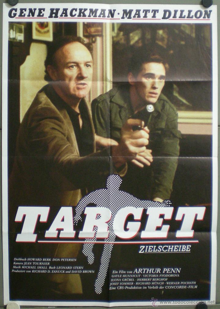 UL17 TARGET MATT DILLON GENE HACKMAN POSTER ORIGINAL ALEMAN 60X84 (Cine - Posters y Carteles - Suspense)