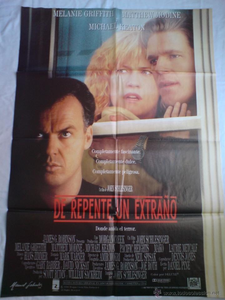 PÓSTER ORIGINAL DE REPENTE..UN EXTRAÑO (Cine - Posters y Carteles - Terror)