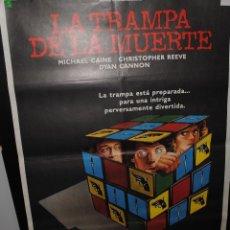 Cine: CARTEL DE CINE ORIGINAL DE LA PELÍCULA LA TRAMPA DE LA MUERTE, 70 POR 100CM. Lote 42197497