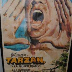 Cine: CARTEL DE CINE ORIGINAL DE LA PELÍCULA TARZÁN Y LA MUJER DIABLO, 70 POR 100CM. Lote 42198070