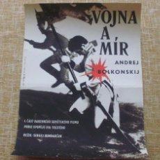 Cine: POSTER ORIGINAL GUERRA Y PAZ/CHECOSLOVAQUIA /1967 /WAR & PEACE CZECH 11X16 '67 SERGEI BONDARCHUCK. Lote 42224194