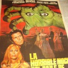 Cinéma: CARTEL DE CINE- MOVIE POSTER. LA HORRIBLE NOCHE DEL BAILE DE LOS MUERTOS. Lote 42224766