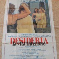 Cine: DESIDERIA: LA VITA INFERIORE PÓSTER ITALIANO ORIGINAL, DOBLADO, GALLIANO JUSO, 1980. Lote 42235428