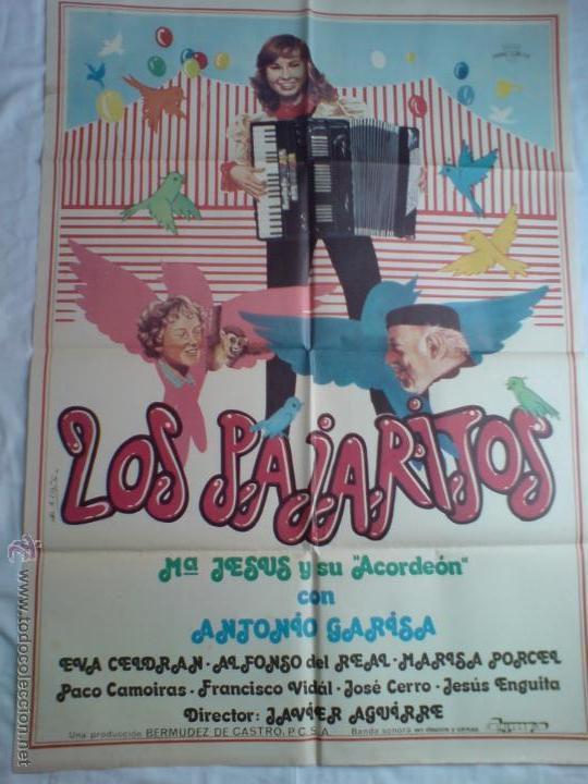 PÓSTER ORIGINAL LOS PAJARITOS (Cine - Posters y Carteles - Comedia)