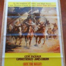 Cine: BITE THE BULLET (MUERDE LA BALA) PÓSTER ORIGINAL DE LA PELÍCULA, DOBLADO, 1975, GENE HACKMAN. Lote 42252726