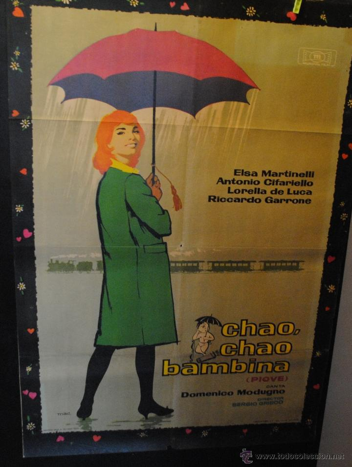 CARTEL DE CINE ORIGINAL DE LA PELÍCULA CHAO CHAO BAMBINA, ELSA MARTINELLI, 70 POR 100CM (Cine - Posters y Carteles - Aventura)