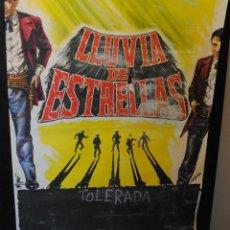 Cine: CARTEL DE CINE ORIGINAL DE LA PELÍCULA LLUVIA DE ESTRELLAS, 70 POR 100CM. Lote 42258335