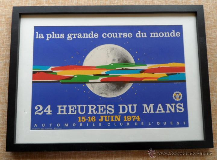 PÓSTER ORIGINAL ENMARCADO DE 24 HEURES DU MANS (24 HORAS DE LE MANS), A COMPLETO COLOR, J. JACQUELIN (Cine - Posters y Carteles - Deportes)