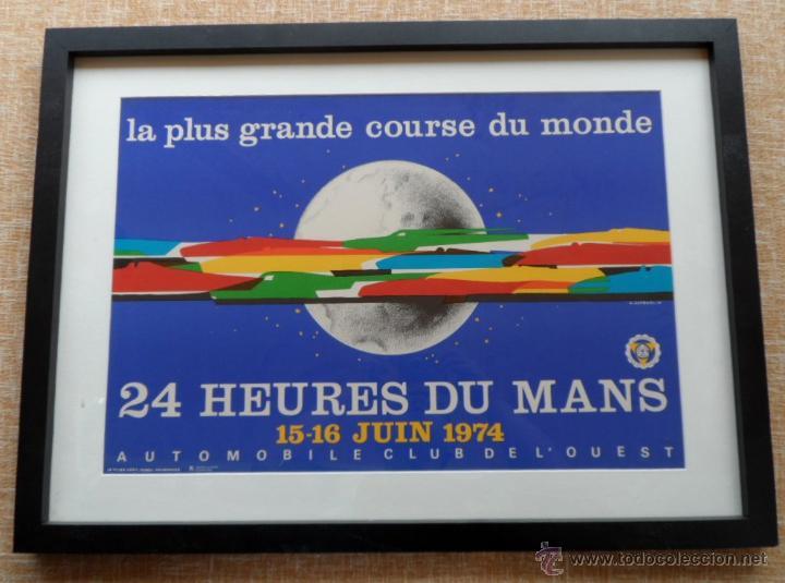 Cine: Póster original enmarcado de 24 Heures du Mans (24 Horas de Le Mans), A completo color, J. Jacquelin - Foto 2 - 42258426