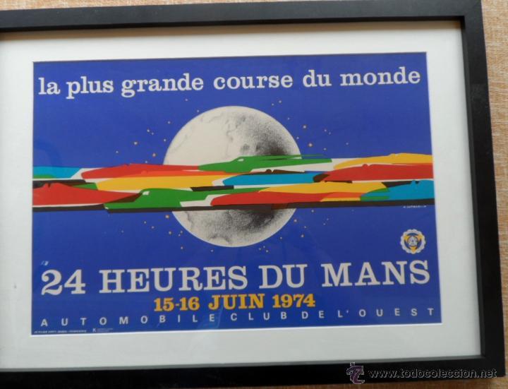 Cine: Póster original enmarcado de 24 Heures du Mans (24 Horas de Le Mans), A completo color, J. Jacquelin - Foto 3 - 42258426